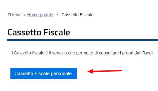Cassetto fiscale personale per scaricare quietanze